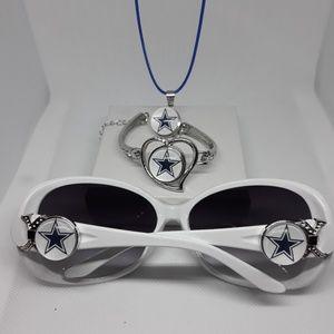 Accessories - Dallas Cowboys Sunglasses and Necklace set